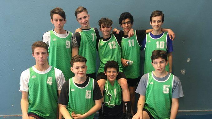 L'équipe Minimes garçon de Handball
